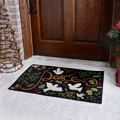 Peace Doves Rubber Doormat
