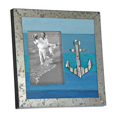 Tin Anchor Picture Frame, 5x7