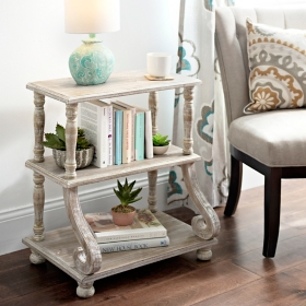 Cheyenne Scroll 3-Tier Shelf