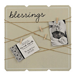 Blessing Twine and Clothespins Collage Frame