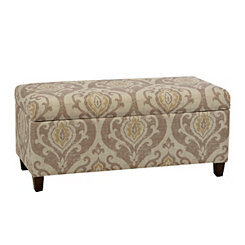 Cream Suri Raffia Storage Bench