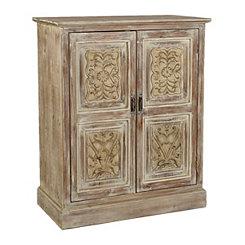 Natural Ravina Carved Wood Cabinet