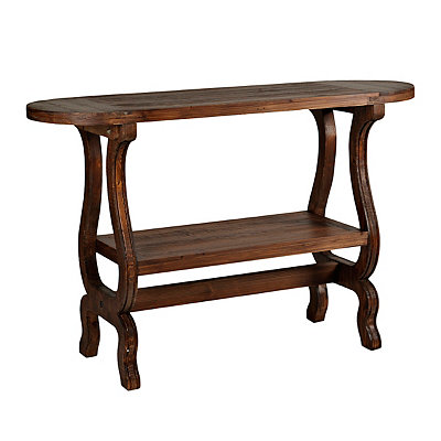 Cordovan Oval Brown Console Table