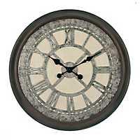 Galvanized Cream Wall Clock