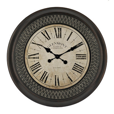 Bronze Basket Weave Wall Clock
