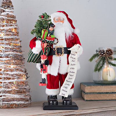 Standing Traditional Santa Claus Statue