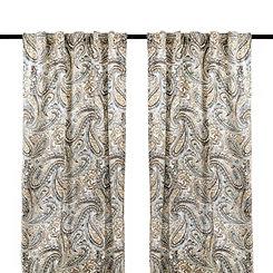 Ocean Vienna Paisley Curtain Panel Set, 96 in.