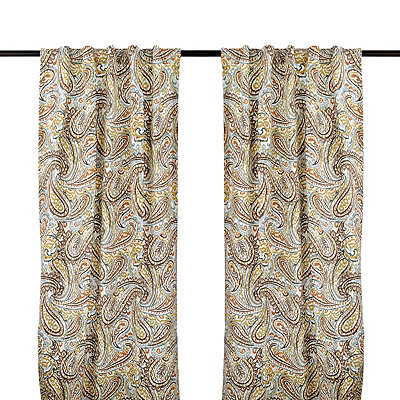 Vienna Paisley Curtain Panel Set, 96 in.