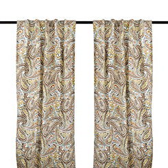 Vienna Paisley Curtain Panel Set, 108 in.