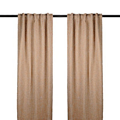 Tan Selma Curtain Panel Set, 96 in.
