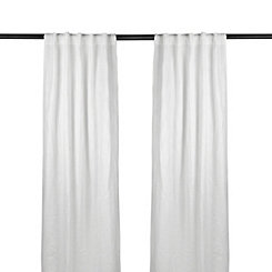 White Selma Curtain Panel Set, 108 in.
