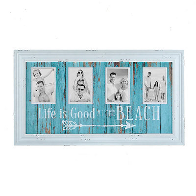 Life Is Good At The Beach 4-Opening Collage Frame