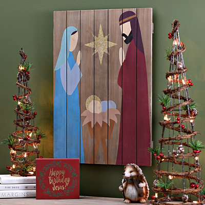 Holy Family Wooden Plaque