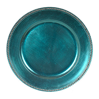 Turquoise Diamond Charger