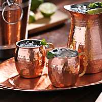 Curved Handle Moscow Mule Copper Mug