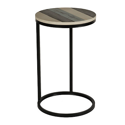 Coastal Stripe Wood C-Table