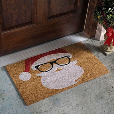 Hipster Santa Doormat