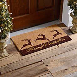 Merry Christmas Reindeer Doormat