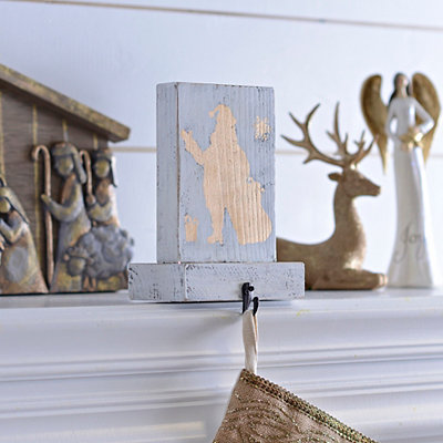 Gold Santa Silhouette Stocking Holder