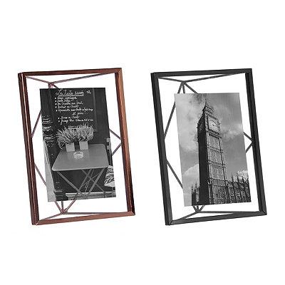 Geometric Metal Picture Frame, 4x6