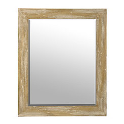 Paulownia Wood Mirror, 29.5x32.5 in.