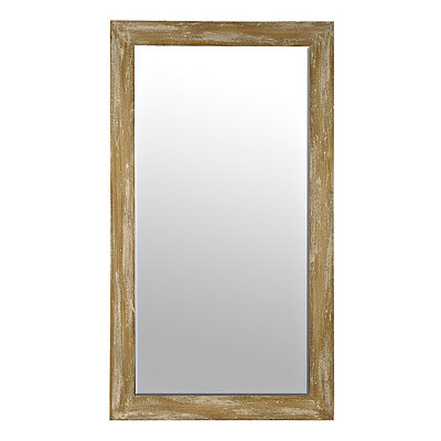 Paulowina Natural Framed Mirror, 30x54 in.