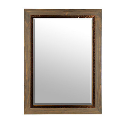 Hammered Copper Framed Mirror, 24x36 in.