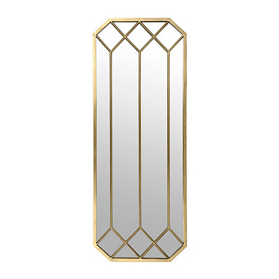 Golden Abigail Geometric Mirror