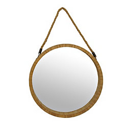 Natural Barrel Hanging Wall Mirror