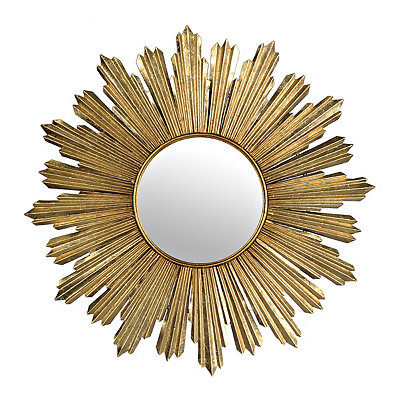 Gold Metallic Starburst Mirror