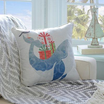 Christmas Whale Pillow
