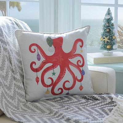 Christmas Octopus Pillow