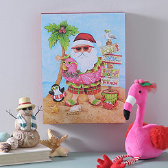 Beach Santa Boxtop Plaque