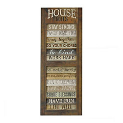 House Rules Shutter Plaque