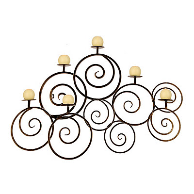 Avery Swirl Wall Candle Holder
