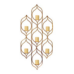 Khloe Gold Ogee Wall Candle Holder