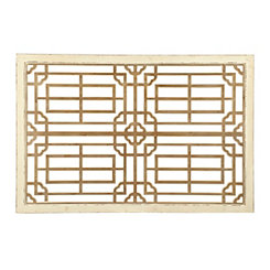 Distressed Cream Zen Wooden Wall Plaque