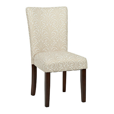 Gold Damask Parsons Chair