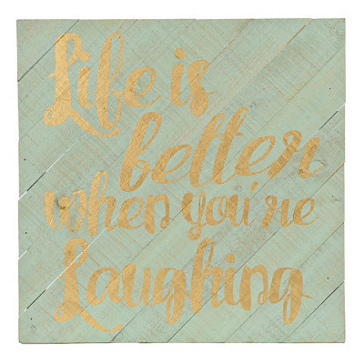 Life Is Better Wood Plank Plaque