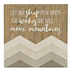 She Will Move Mountains Wood Plank Plaque