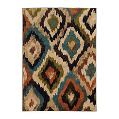 Abstract Ikat Brayson Accent Rug, 3x5