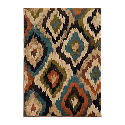 Abstract Ikat Brayson Area Rug, 5x8