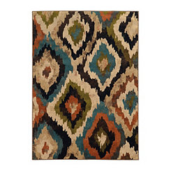 Abstract Ikat Brayson Area Rug, 7x10