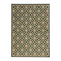 Teal Cooper Gate Accent Rug, 3x5