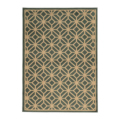 Teal Cooper Gate Area Rug, 5x7