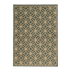 Teal Cooper Gate Area Rug, 7x10