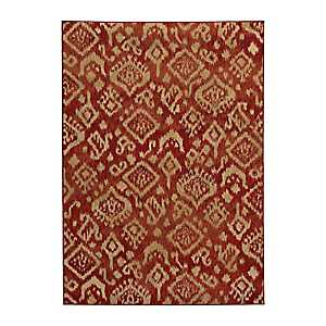 Red Ikat Cooper Area Rug, 3x5