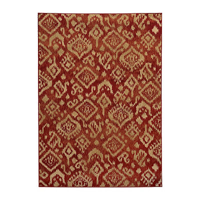 Red Ikat Cooper Area Rug, 7x10