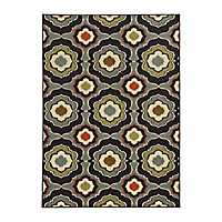 Mirrored Medallion Antioch Accent Rug, 3x5