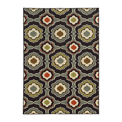 Mirrored Medallion Antioch Area Rug, 5x7